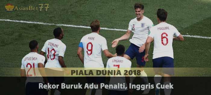 Rekor Buruk Adu Penalti, Inggris Cuek Agen Bola Piala Dunia 2018