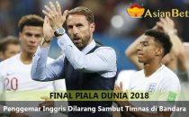 Timnas Inggris Pulang Tanpa Sambutan Hangat Para Fans - Agen Bola Piala Dunia 2018