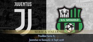 Prediksi Serie A Juventus vs Sassuolo 16 Sept 2018 Agen bola online