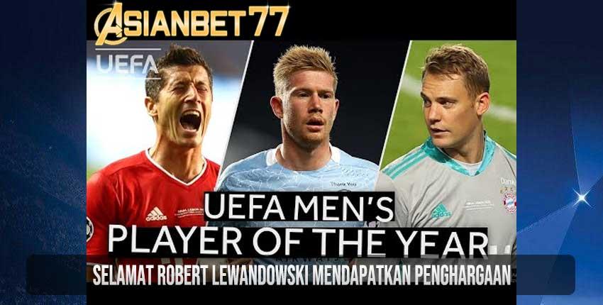 Selamat Robert Lewandowski Mendapatkan Penghargaan