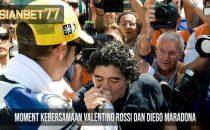 Moment Kebersamaan Valentino Rossi Dan Diego Maradona