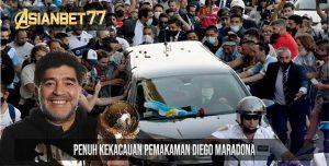 Penuh Kekacauan Pemakaman Diego Maradona