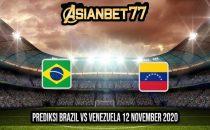 Prediksi Brazil vs Venezuela 12 November 2020