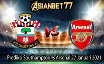 Prediksi Southampton vs Arsenal 27 Januari 2021